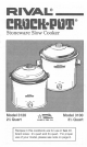 rival crock pot smart set programmable slow cooker manual