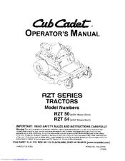 cub cadet rzt s 42 manual