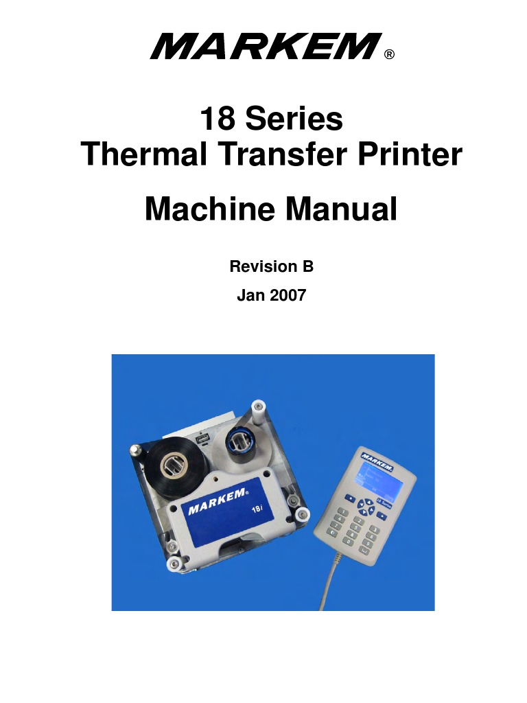 markem imaje 5400 service manual