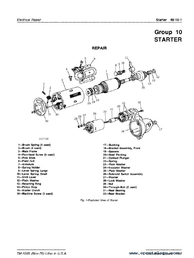 john deere 317 skid steer service manual
