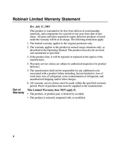 robinair 15800 vacuum pump manual