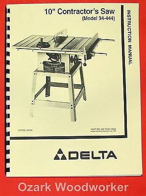 delta 10 contractor table saw manual