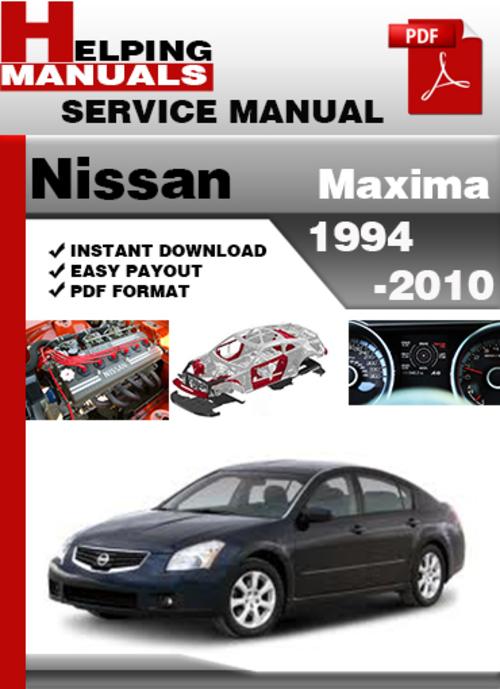 2000 nissan maxima service manual