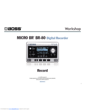 boss br 600 digital recorder manual