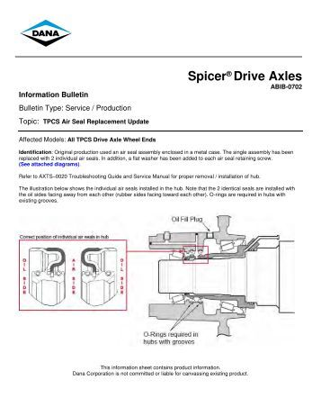 spicer steer axle service manual