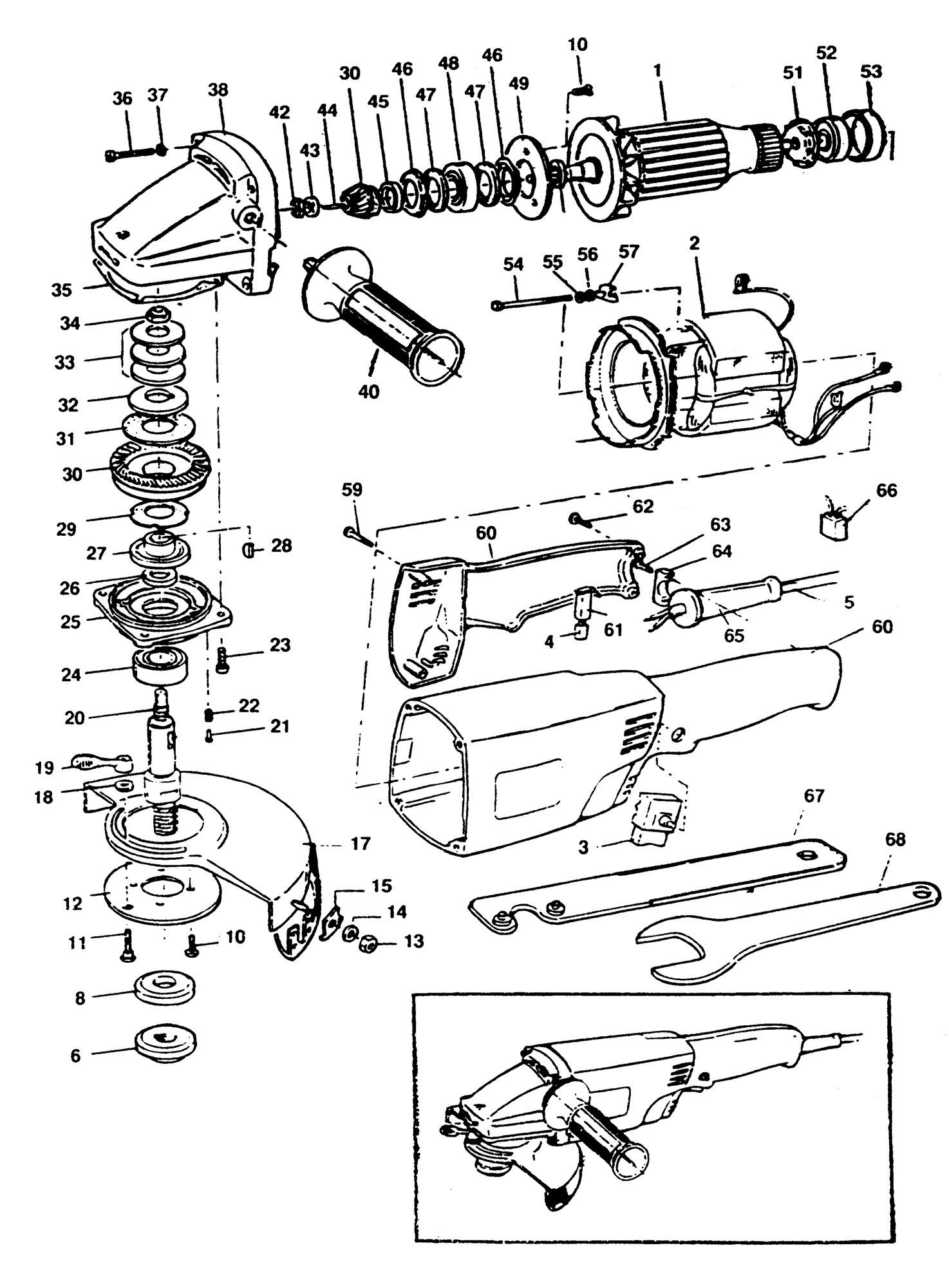 black and decker angle grinder manual