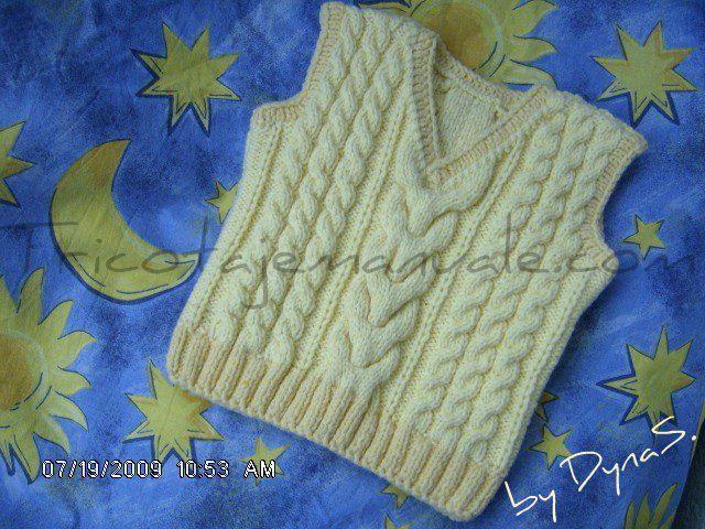 veste tricotate manual pentru copii