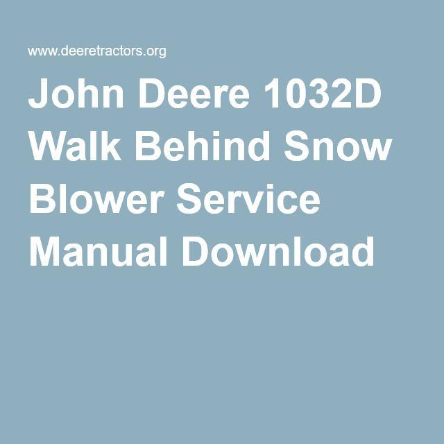 john deere 724d snowblower manual