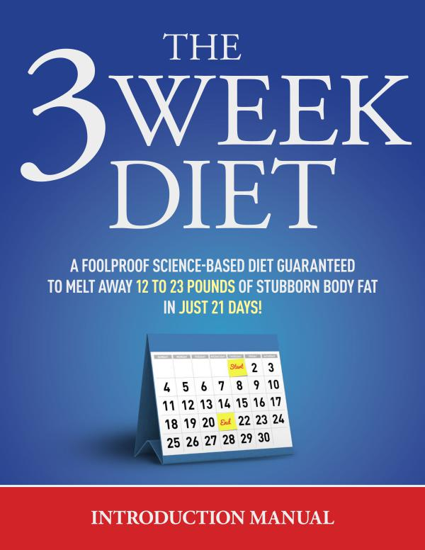 3 week diet diet manual free download