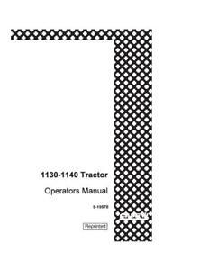 john deere 1120 owners manual