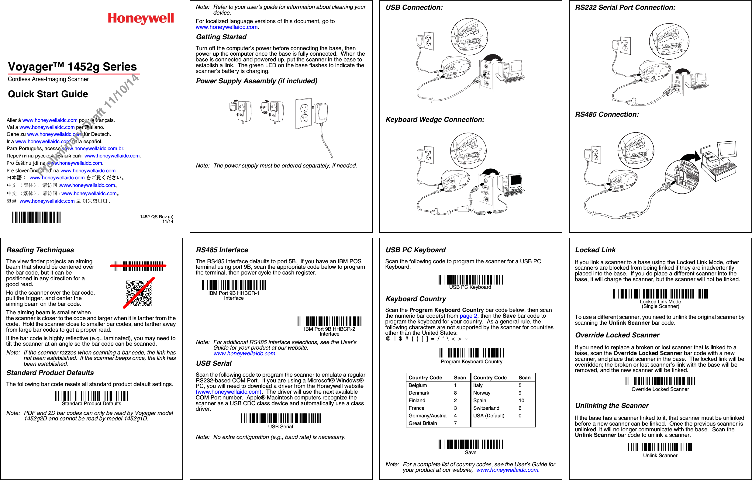 honeywell barcode scanner 3800g manual