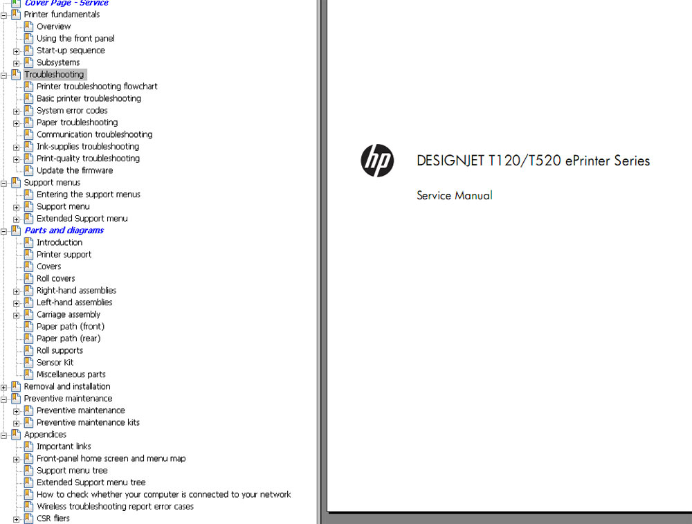 hp designjet t1200 service manual pdf