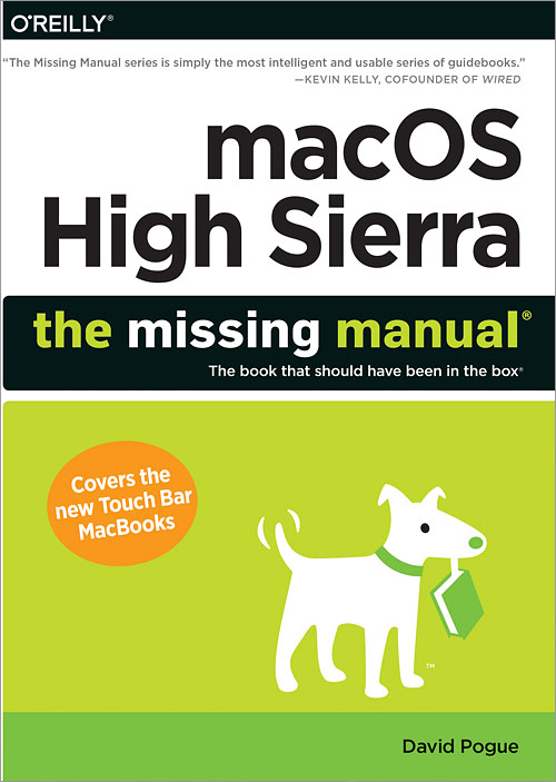 macos high sierra the missing manual