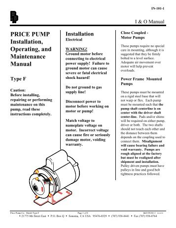 fire pump operation and maintenance manual