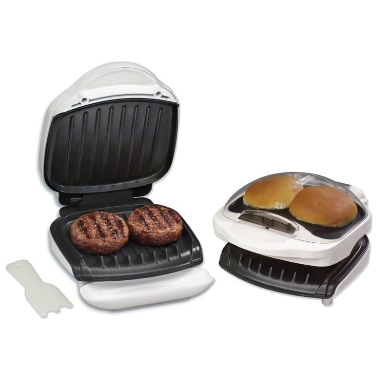 george foreman grill with bun warmer manual