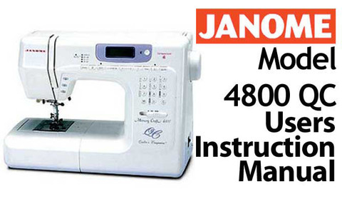janome memory craft 6000 instruction manual free download