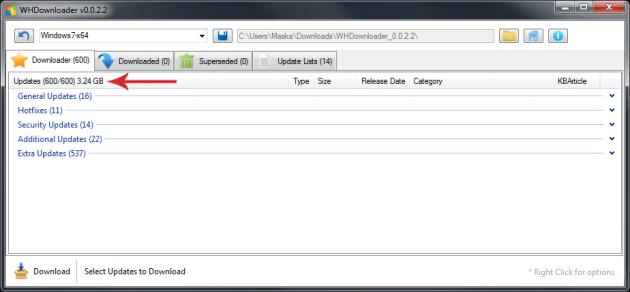 manually install windows 7 updates